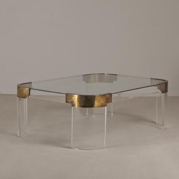 38 best Modern Lucite Glass and Brass Coffee Tables images on