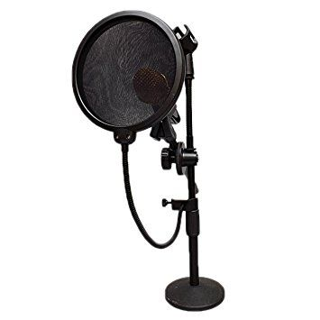 HDE 15 cm Pop Filter Shield for Blue Yeti Microphones and USB Condenser Mics