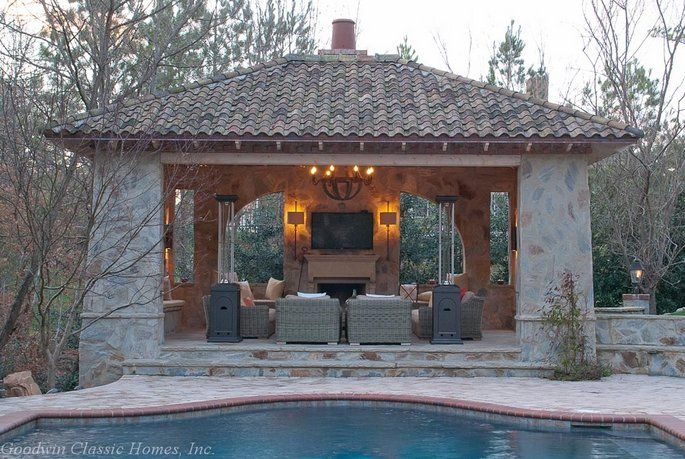 backyard ideas pavilion design outdoor living rooms san carlos pool