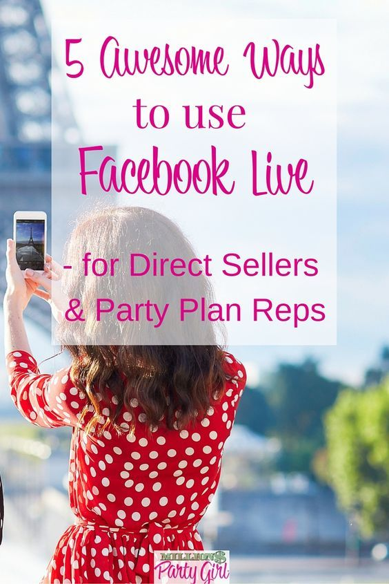 Learn how to use Facebook Live to grow your Direct Sales business! From hostess and team shout outs and challenges, to product reveals, how-to's and facebook parties, these 5 ideas will get you started.