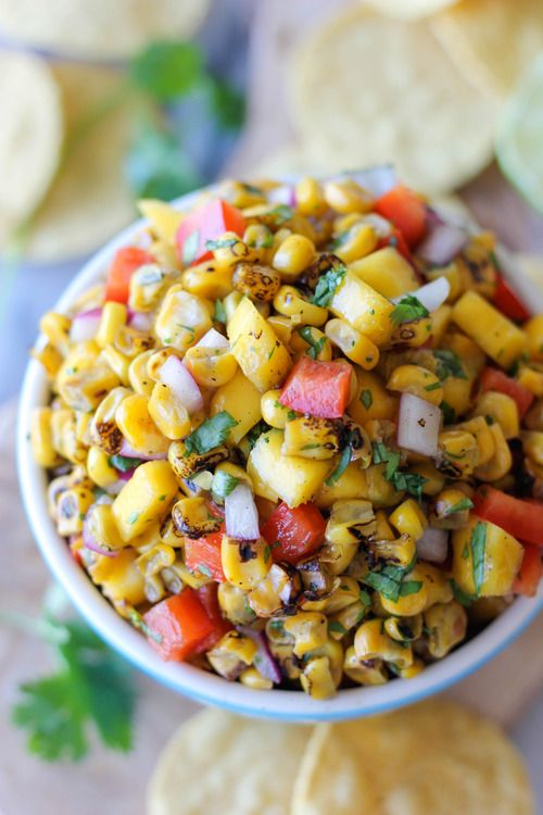 Grilled Corn Mango Salsa