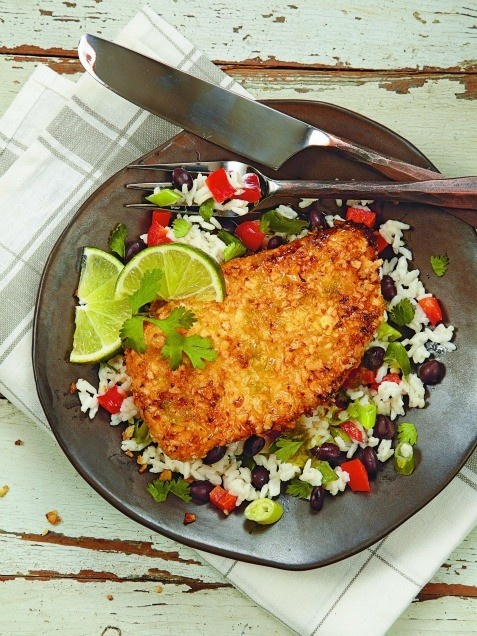 Go Mexican with your chicken tonight. Honey-Lime Chicken with Coconut-Black Bean Rice. www.ivillage.com/...
