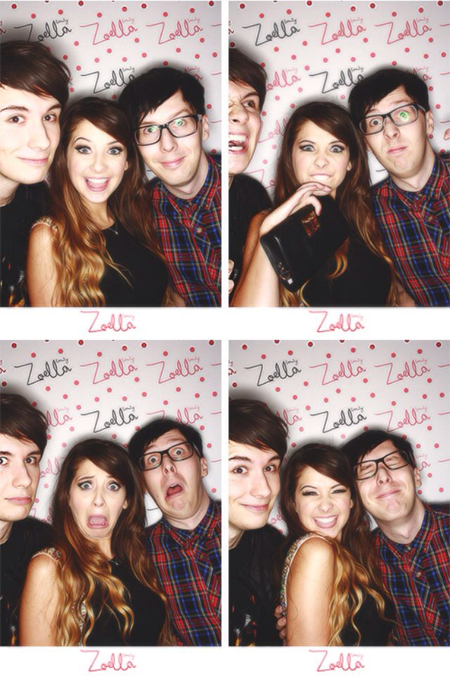 Dan Howell, Zoe Sugg, and Phil Lester at Zoella's Beauty Launch