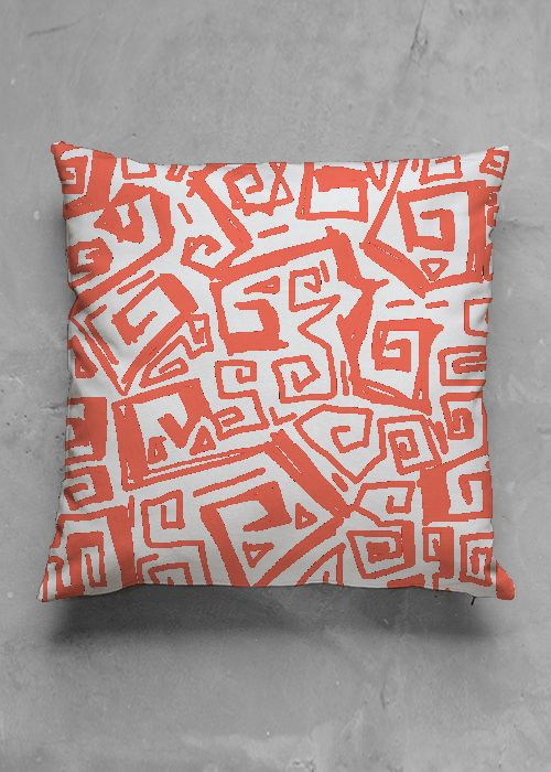 Ocean - Red - luxury pillow design by Charles Bridge 7x  buy in my Vida collection