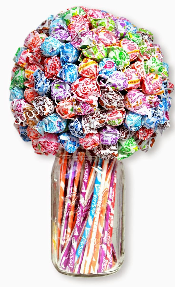 And don't forget your sweet teachers gifts like this Dum Dum and Pixy Stix bouquet!