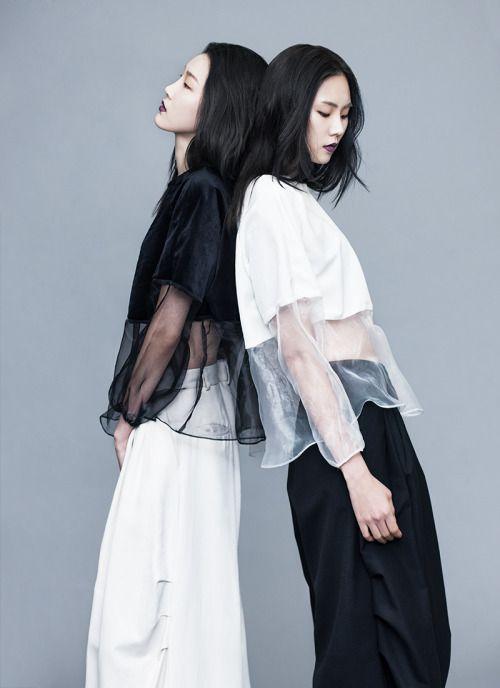 KOREAN MODEL • Park Su Jin, Yoo Eun Bi shot by Bae Gun Suk