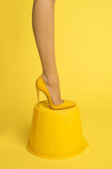 JULES & JENN - mode responsable en toute transparence // Yellow High heels • www.julesjenn.com