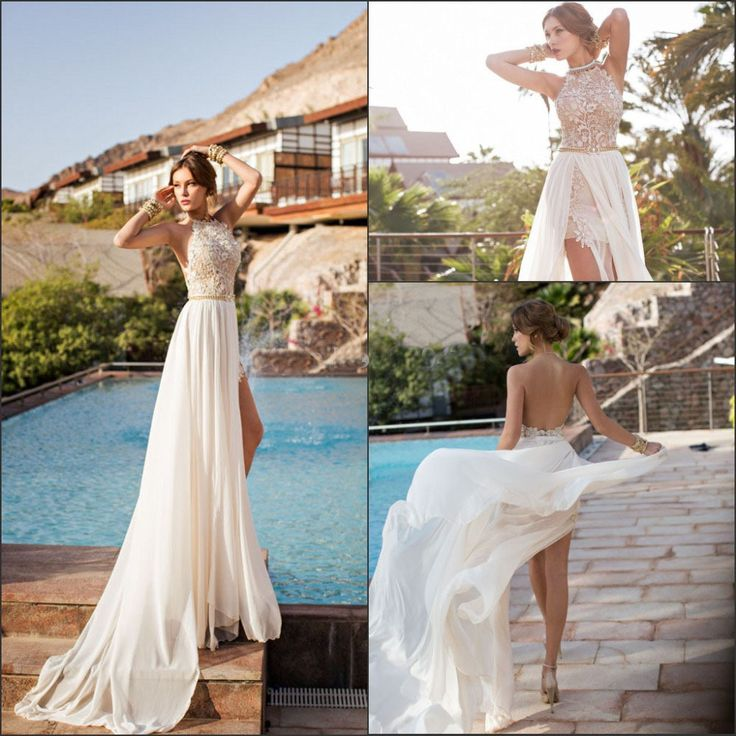 29 best Halter Wedding Dresses images on Pinterest | Short wedding ...