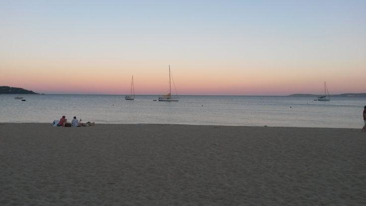 Un coucher de soleil à Saint-Clair.