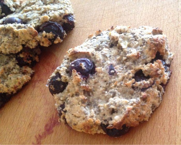 Frokostcookies med sitron og blåbær