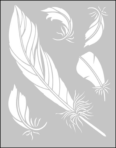 Click to see the actual CO16 - Feathers stencil design.