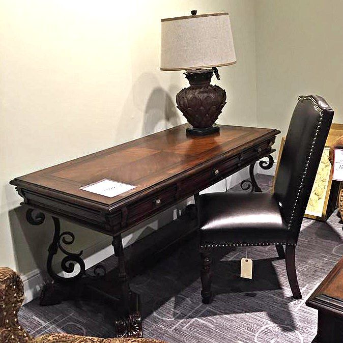 Revamp your home office with a traditional style desk and beautiful leather  chair from Gallery Furniture. 36 best Work Space images on Pinterest