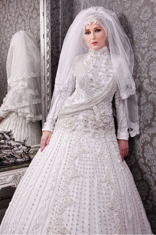 New designs for hijab wedding dress