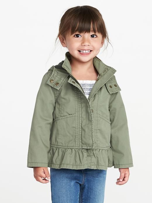 5f68fb46064a Toddler girl hooded peplum jacket - great for spring or fall  affiliate