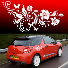 girlie side decals for cars | ... Flower Vinyl Car Graphics, Stickers, Decals Butterfly Design 002