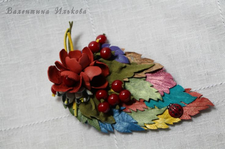(25) Gallery.ru / Фото #68 - Цветы из кожи, мой первый опыт - Valehcia