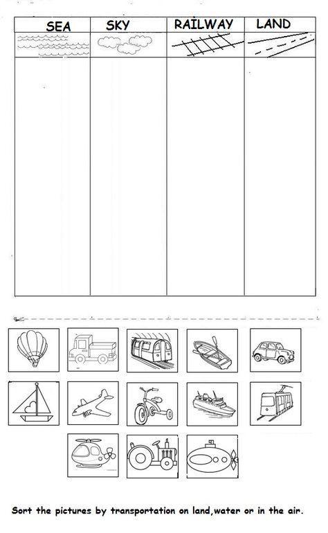 vehicle worksheet for kids