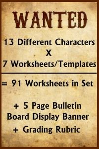 Wanted Poster Project Charlie and the Chocolate Factory Lesson Plans