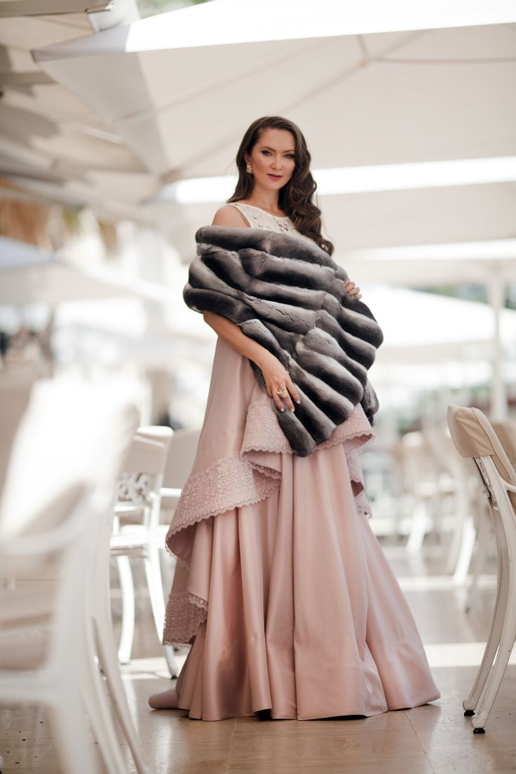 Chinchilla shawl will look fantastic with any gala outfit, choose your perfect one at #ADAMOFUR Our boutique at @cpkempinski is opened till midnight.
