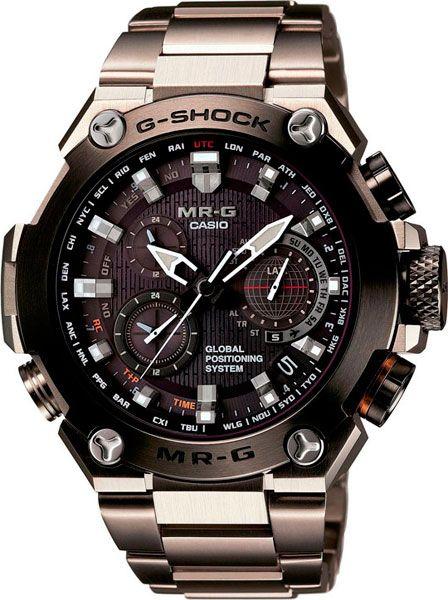 Мужские японские титановые наручные часы Casio G-SHOCK MRG-G1000D-1A