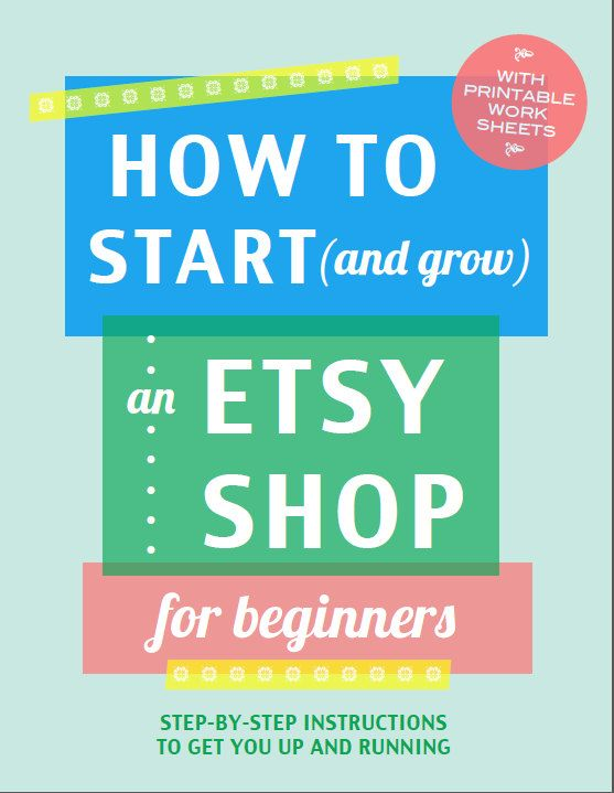 How to set up shop on Etsy  - a guide for beginners that takes you through the process of starting a shop, step-by-step.
