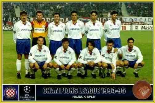Hajduk Split team group in 1994-95.