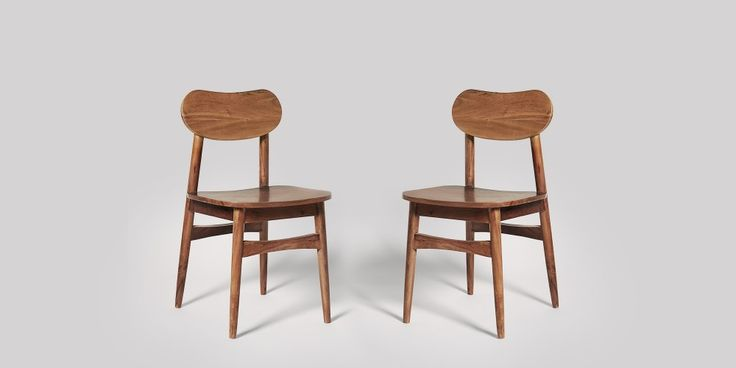 Daven Acacia Dining Chair, Set Of Two | Swoon Editions