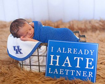 I already hate Laettner Kentucky basketball wall art metal sign - Christian Laettner, UK nursery, University of Kentucky