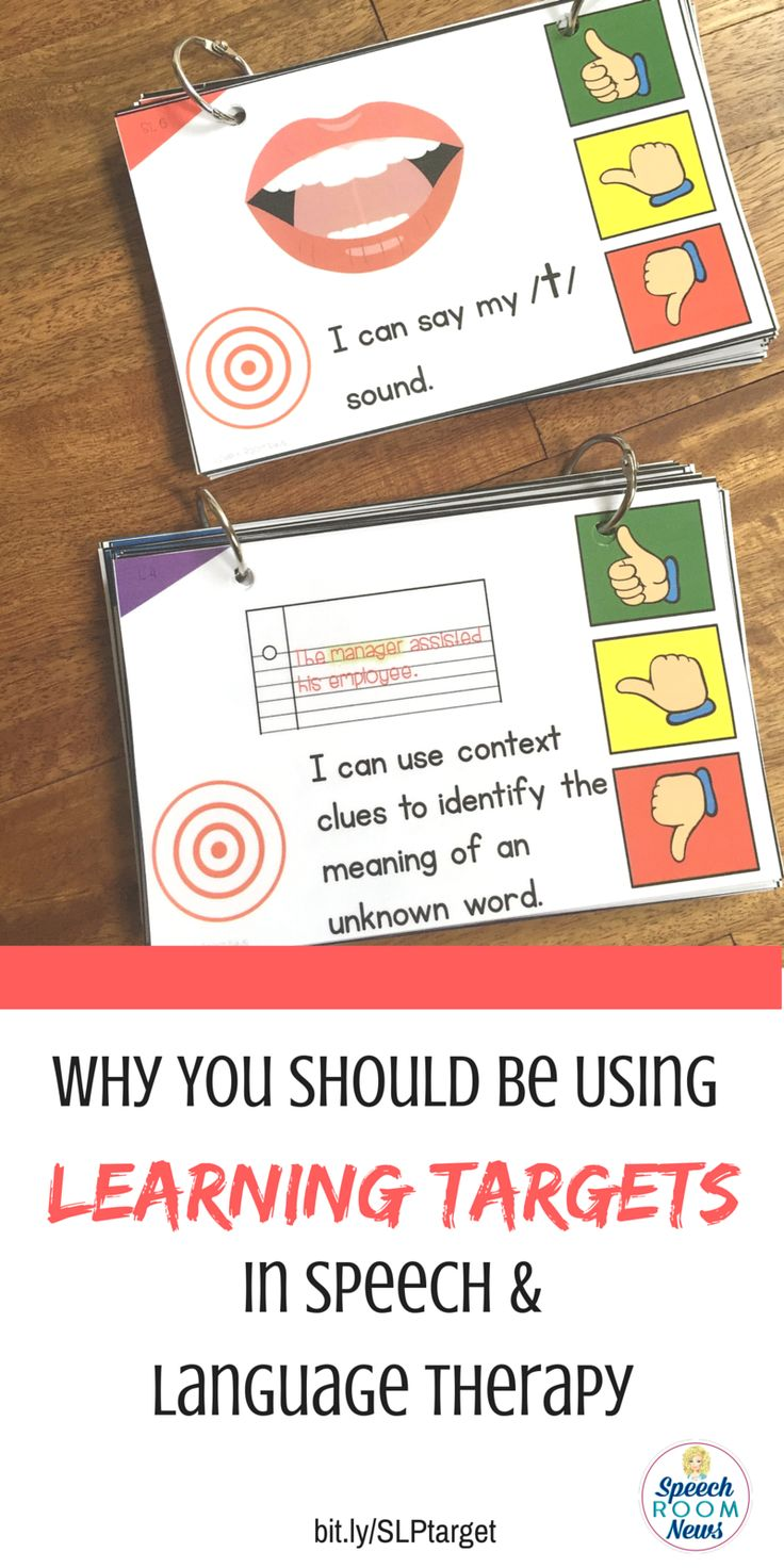 """Why you should be using learning targets in speech and language therapy. From Speech Room News. How to use """"I can"""" statements."""