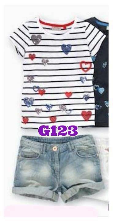 Guess heart strip girlset (G123)    size 1-6    IDR 125.000