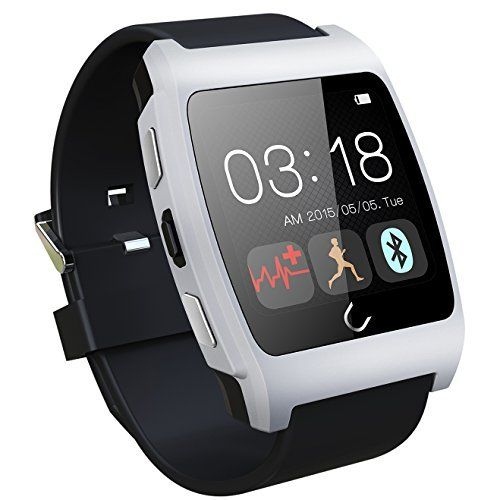 Generic Bluetooth 4.0 NFC Heart Rate Monitoring Smart Watch Healthy Monitoring Smart Sports Watch for iOS Android Smartphones Color Silver. Built-in light heart rate sensor, through ecg electrodes to detect human ecg signal, output synchronization Heart Throb of the pulse signal, high accuracy measurement results, and quick start, induction sensitive, any environment test are stable. Built-in heart rate monitoring. The perfect combination of Intelligent communication watch & Built-in…
