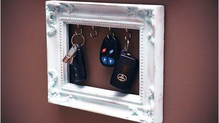 Cadre porte clés mural blanc DIY Plus