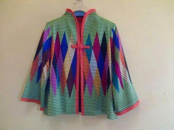 Tenun motive blouse