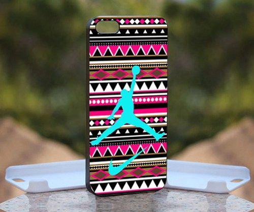 Aztec Nike Jordan Mint, Print on Hard Cover iPhone 5 Black Case | MonggoDiTumbas - Accessories on ArtFire