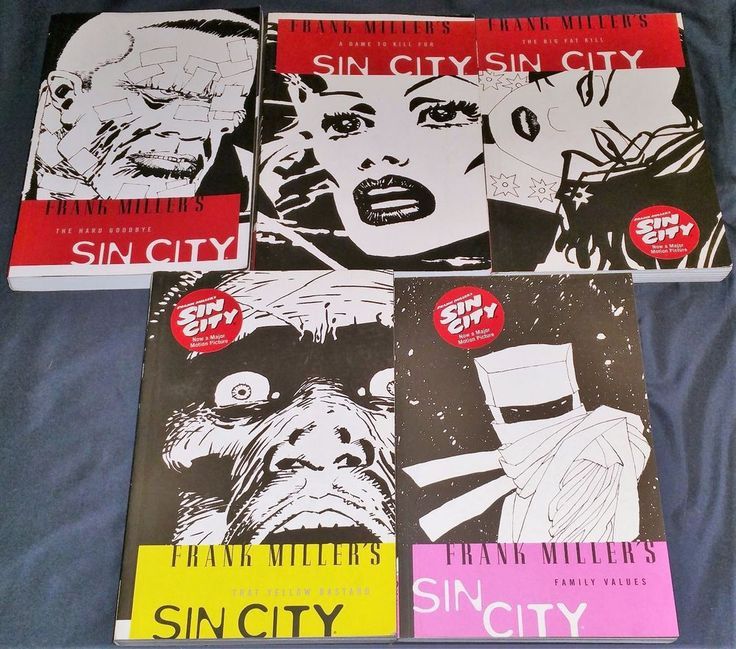 Sin City Graphic Novels Darkhorse Comics Complete Set Frank Miller 1-5 1 2 3 4 5