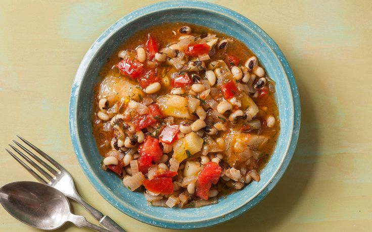 This hearty vegetarian stew from the Blue Zones' Dan Buettner is chock-full of anti-aging ingredients. Legumes, like the black-eyed peas in this recipe, are a great source of fiber and plant-based protein—a Blue Zones superfood.