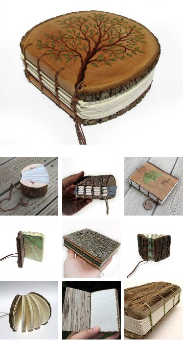 I have figured out leather journals, next challenge...wood!   Handmade Wooden Journals by Tanja Sova