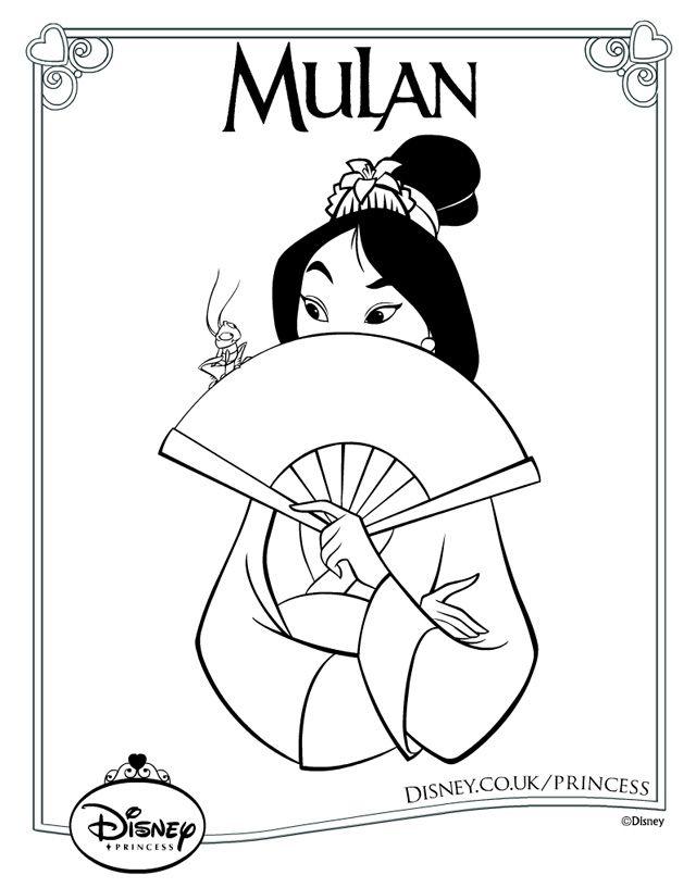 90 Disney Princess Coloring Pages Uk