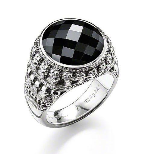 Thomas Sabo Ring Rebel At Heart Onyx Silver
