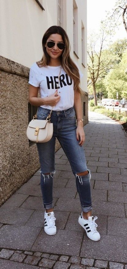 Ripped Jeans Outfit - Ripped to the Core