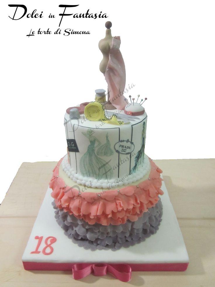stylish cake #fashion