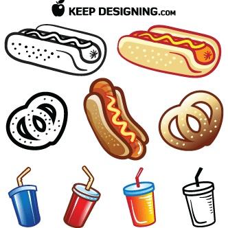 Comida rápida | Diseño, ilustraciones vectoriales y recursos gratis