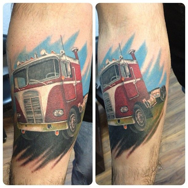 25 best ideas about truck tattoo on pinterest forest for Truck tattoos designs
