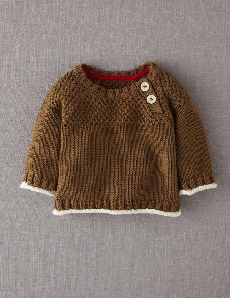 Kahverengi örgü çocuk kazak
