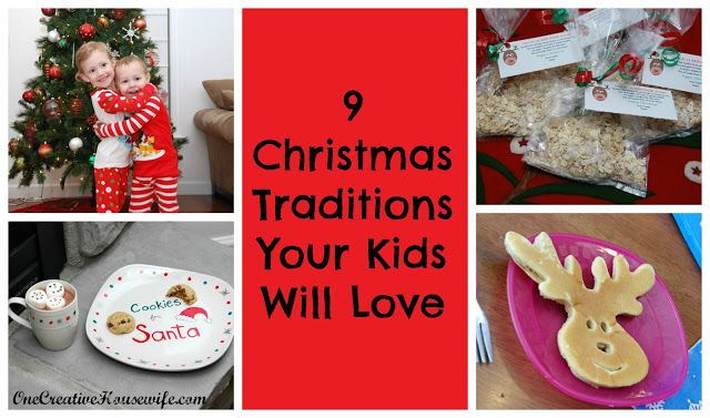 One Creative Housewife: 9 Christmas Traditions Your Kids Will Love!Holiday, Cute Ideas, Christmas Winte, Baby, Fun, Kids, Creative Housewife, Christmas Traditional, Christmas Trees