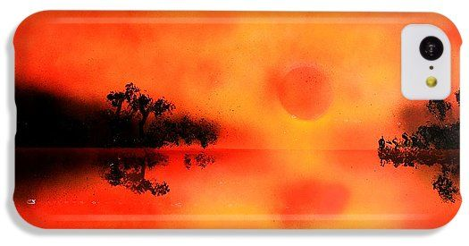 Joy Of The Sun IPhone 5c Case Printed with Fine Art spray painting image Joy Of The Sun by Nandor Molnar (When you visit the Shop, change the orientation, background color and image size as you wish)