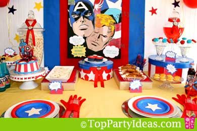Captain America Birthday Party Ideas