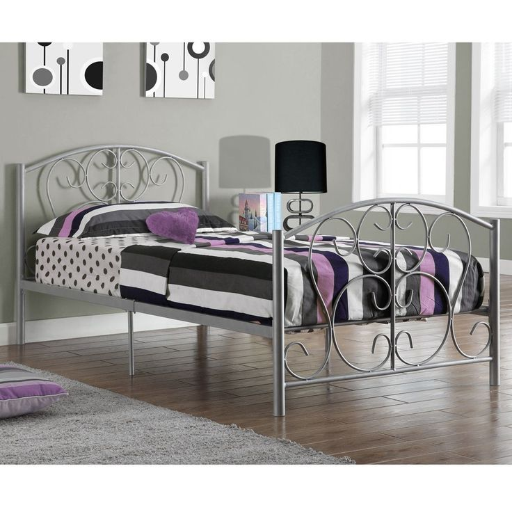 silver metal twin size bed frame only - Cheap Bed Frames Twin