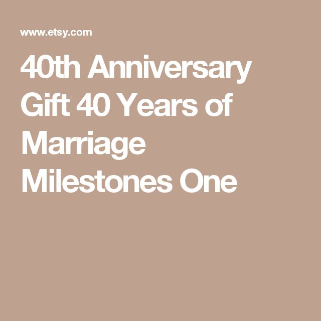 40 Year Wedding Anniversary Gift Ideas: Best 25+ 40th Anniversary Gifts Ideas On Pinterest