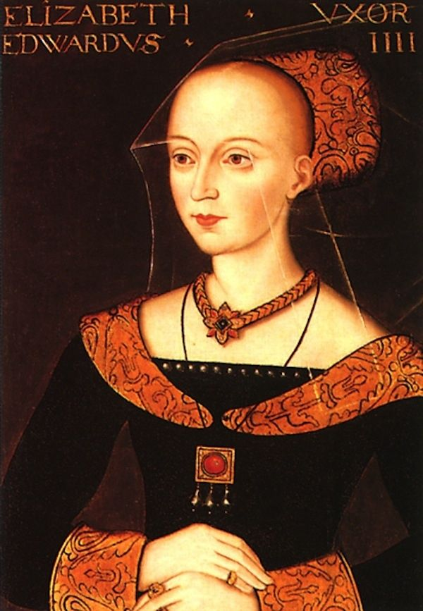 Queen Elizabeth Woodville. Wife of Edward IV, mother of Elizabeth of York, Henry VIII's grandmother.: